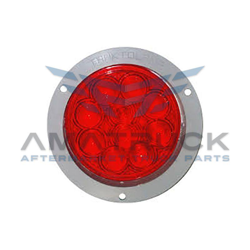 """Plafon Tlamp 4"""" Rojo 10Led B/Plana"""