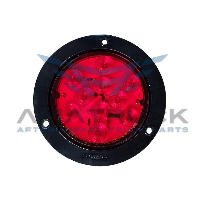 Plafon Redondo 4 Rojo 10 Led Aro Negro #687